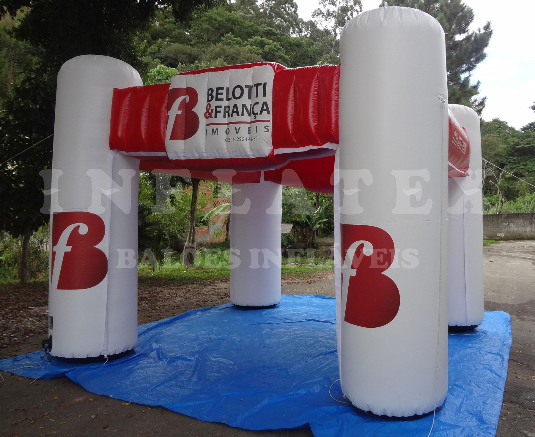 Tenda inflável belotti franca